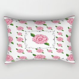 Camellia - Pink Rectangular Pillow