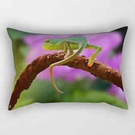 Floral Baby Chameleon Rectangular Pillow
