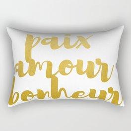 Peace Love Happiness #society6 #decor #buyart Rectangular Pillow
