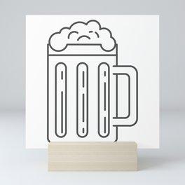 Glass Mug Craft Beer style Fashion Modern Design Print! Beer Pub Brewery Handcrafted Mini Art Print