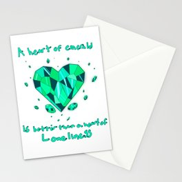 Heart of Emerald Stationery Cards
