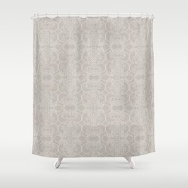 Snow Vertical Lace Shower Curtain