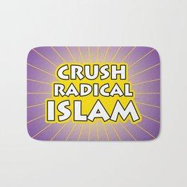 Crush Radical Islam Bath Mat