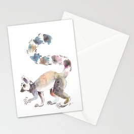 Splotchy Lemur Stationery Cards