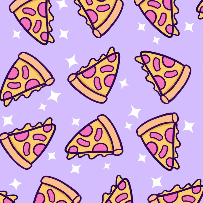 Pizza Magic // Purple Leggings