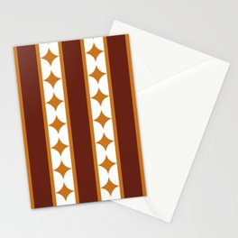 Bars and Stars,mocca Stationery Cards