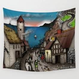 The Golden Hippogriff Wall Tapestry