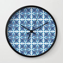 Majolica tiles Wall Clock