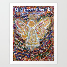 Southwest What Cancer Cannot Do Angel Painting Art Print