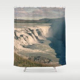 Gullfoss Waterfall Shower Curtain