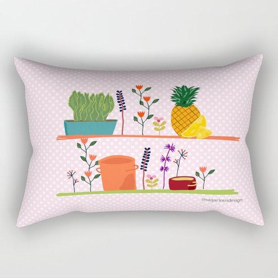 Happy shelf Rectangular Pillow