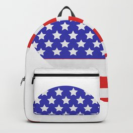 united states flag with heart Backpack