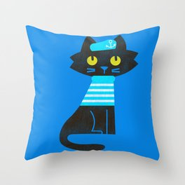 Fitz - Sailor cat Throw Pillow