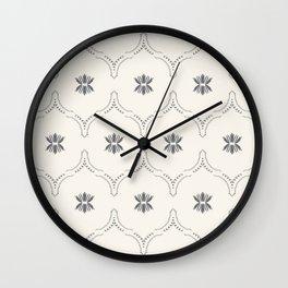 WILDFLOWER JASMIN GREY Wall Clock