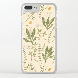 Angelica, Thyme, & Dandelion Clear iPhone Case