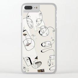 Building Collage by Jordan E. Eismont Clear iPhone Case