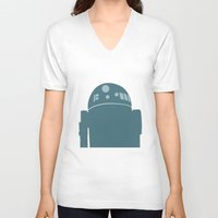 r2d2 V-neck T-shirts featuring R2D2 by olive hue designs