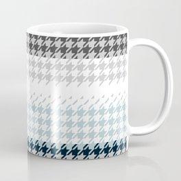 Modern Houndstooth Reinterpreted A – Navy / Gray / White Checked Pattern Coffee Mug