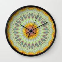 sun Wall Clocks featuring Sun by David Zydd