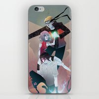 sasuke iPhone & iPod Skins featuring Nothing but Death by Serena Rocca