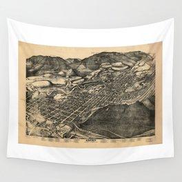 Bird's Eye View of Aspen, Colorado (1893) Wall Tapestry