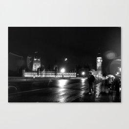 Big Ben - Rain Canvas Print