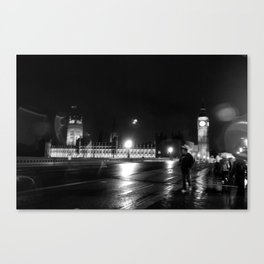 Big Ben - Rain Canvas Print