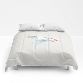 One line Koi Fish Comforters