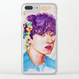 Jungkook et les fleurs Clear iPhone Case