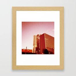 City Rooftop Framed Art Print