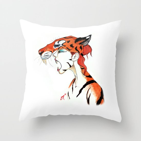 The Masquerade:  The Bengal Throw Pillow