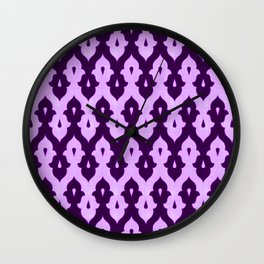 Mauresque Counterchange (Lilac) Wall Clock
