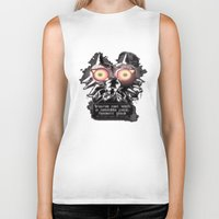 majora Biker Tanks featuring Majora Mask by Janismarika