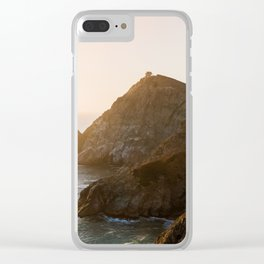 ocean falaise 7 Clear iPhone Case