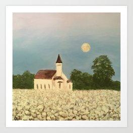 Rural church Art Print