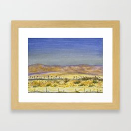 I-10 near Indio, CA Framed Art Print