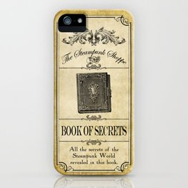 Steampunk Apothecary Shoppe - Book of Secrets iPhone Case
