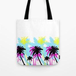 CMYK Palm Trees Tote Bag