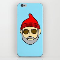 steve zissou iPhone & iPod Skins featuring Steve Zissou by CozyReverie