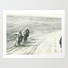 Board Track Racers  Art Print