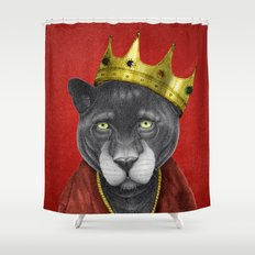 The King Panther Shower Curtain