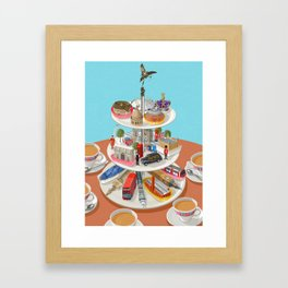 a very British past time Framed Art Print