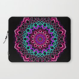 Project 208 | Colorful Mandala on Black Laptop Sleeve