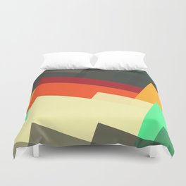 Miscellaneous retro shapes Duvet Cover
