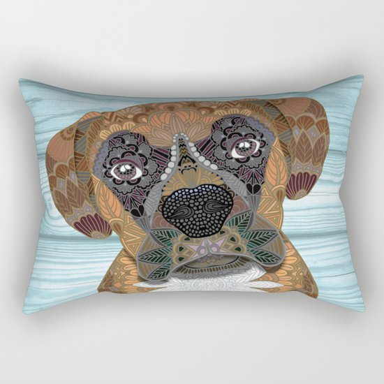 Cute Boxer Rectangular Pillow