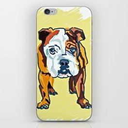Bulldog Puppy Dog Portrait iPhone Skin