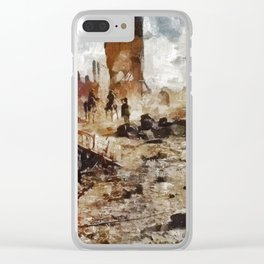 Destruction, World War One Clear iPhone Case