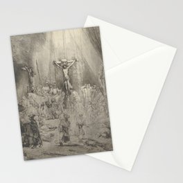 """Rembrandt - Christ Crucified Between the Two Thieves (""""The Three Crosses"""") (1653) Stationery Cards"""
