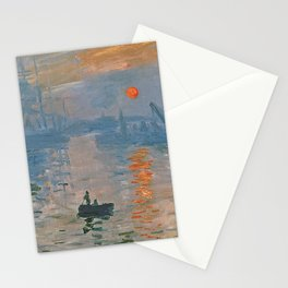 Monet - Soleil levant Stationery Cards