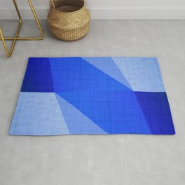 Lapis Lazuli Shapes - Cobalt Blue Abstract Rug